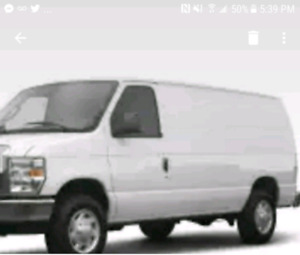 2008 White Ford Van for sale!