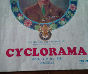 Official Programme Boy Scouts District of Toronto Cyclorama 1939 Kitchener / Waterloo Kitchener Area image 2
