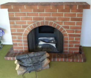 Vintage 1960s Retro Working FAUX Fireplace Heated Works