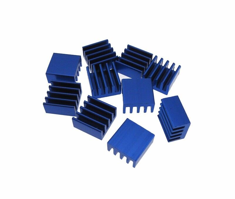 8.8x8.8x5mm Small Heat Sink Top Mount - Blue  - Pack of 10