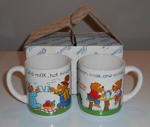 Vintage Berenstein Bears mugs, set of two
