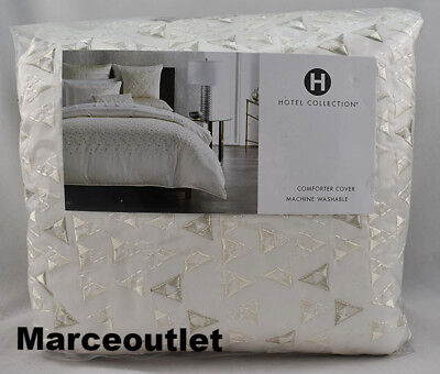 Collection King Duvet Cover - Hotel Collection Gilded Geo Embroidered KING Duvet Cover Off White