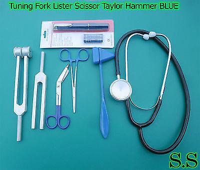 Stethoskop Schere (Stimmgabel Lister Schere Taylor Hammer Kelly Zange Stethoskop Blau)