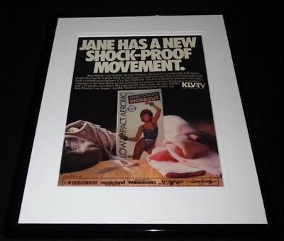 1986 Jane Fonda Workout Framed 11x14 ORIGINAL Vintage Advertisement
