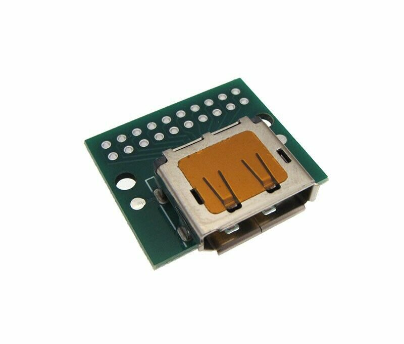 DP Display Port 20P Female Connector Breakout Board HDMI