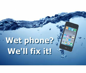 IPhone 6 6+ 6S 5 5s Samsung LG Cell phone repair water treatment