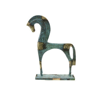 Horse Greek Bronze on base Greece Antique C2A