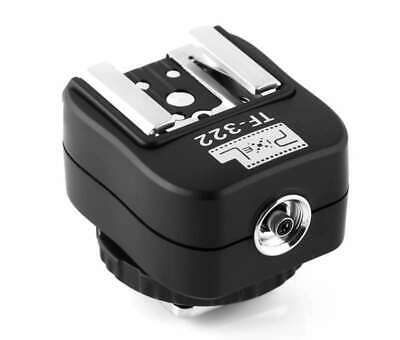 PIXEL TF-322 Zapata Nikon Adaptador Flash PC Sync Trineo Flash Studio