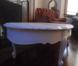 French Coffee Table Oval Shaped