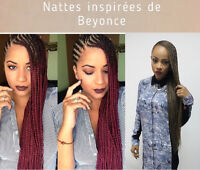 Coiffures africaines/ crochets braids/ nattes/ tissage