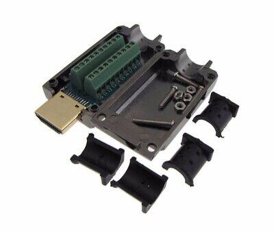 Hdmi Male Breakout Board D-sub Connector W Two Piece Metal Backshells Hoods