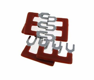 3 Pos Shorting Bar Stripe For 15a Screw Barrier Terminal Block - Red - Pack Of 5