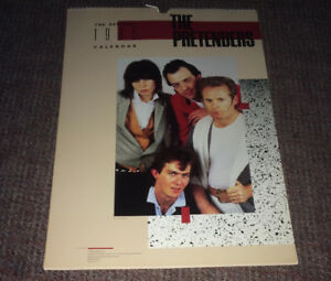 Vintage Rare 1985 Chrissie Hynde The Pretenders Wall Calendar NM