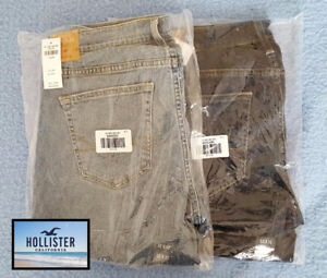 Brand New Hollister Jeans 32x32 Straight Leg, Relaxed Fit