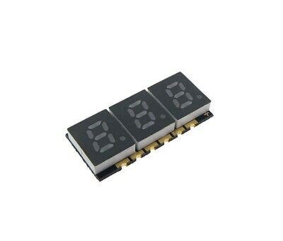 0.2 3 Digit 7-segment Led Display Smd Surface Mount Common Anode - Red