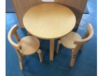 Wooden circular children's table