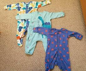 3/6 month baby boy sleep suits