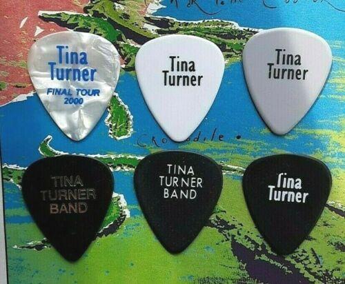 TINA TURNER 6-guitar pick SET - new pick added
