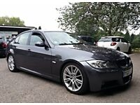 2007 BMW 330D M Sport 4dr Auto, Grey, F/S/H, Xenons, Black Leather, P/Sensors, 2 Keys, Great Example