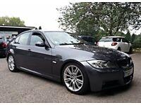 2007 07 BMW 330D M Sport 4dr Auto, Grey, FSH, Xenons, Sensors, Leathers, 2 Keys, Excellent Condition