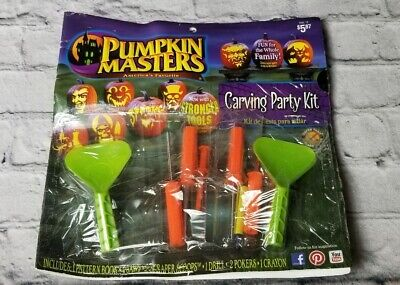 Discontinued Halloween Pumpkin Masters Carving Party Kit Pattern Book Cut Out