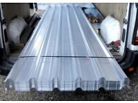 3 galvanised roofing sheets metal brand new each sheet size 12' x 3'