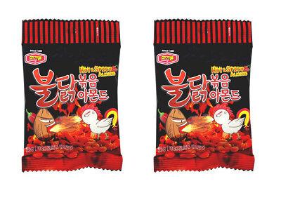 Korean Snack Murgerbon BULDAK BOKEUM ALMOND Hot and Spicy 30g x 2 Beer Side Dish