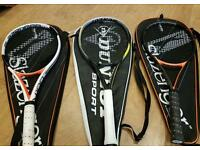 Men's top tennis rackets, barely used