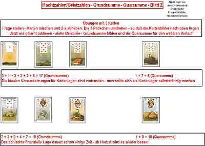 Lenormand Aufbaukurs 1, 2 und 3 - CD Zertifikat möglich - Kartenlegen