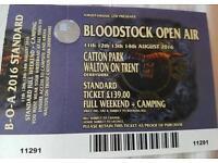 Bloodstock 2016 camping ticket