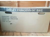 14 inch Disney Princess bike ** BRAND NEW IN BOX **