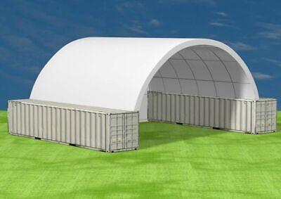 40x40 Shipping Cargo Container Conex Fabric Building Shelter Garage Carport