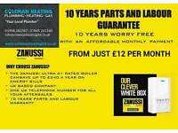 COMBI BOILER FROM £12 PER MONTH WITH 10 YEARS WARRANTY