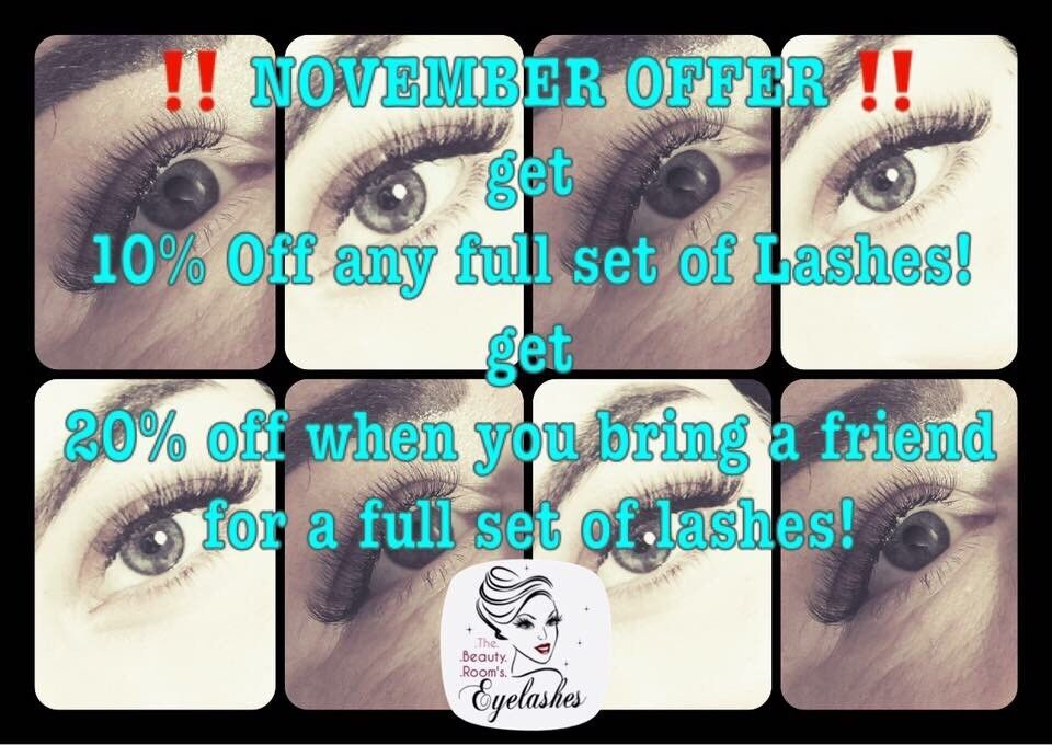 November Offer Russian Eyelash Extensions In Southampton