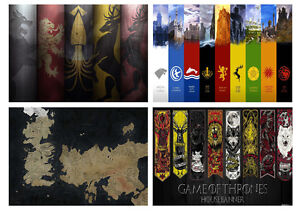 Game-Of-Thrones-Houses-Westeros-Free-City-Maps-Crest-Shields-Essos-A3-A4-POSTER