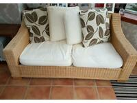 2 seater wicker conservatory couch