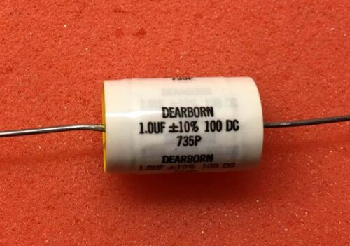 1UF 100V Axial Polypropylene Film Audio Capacitor 735P Series (10 pcs)