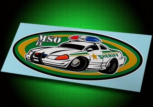 MANATEE COUNTY SHERIFF ☆ FLORIDA ☆ MSO Patrol Car Caricature ☆ Sticker