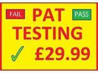 pat testing electrican tester same day certificates london