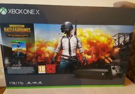 BRAND NEW SEALED X Box One X, game and 1 month gold Live