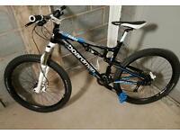 C boardman team txc 650b full suspension bike rockshox forks and monarch mavic rims avid brakes