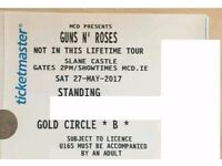2 Guns N Roses Golden Circle Tickets - Slane