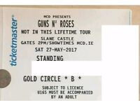 2 Guns N Roses Golden Circle Tickets - Slane