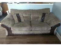 Brown 3 seater, Arm Chair and Foot Stool £400 ono
