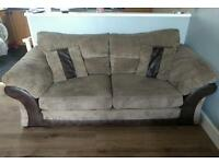 3 Seater Brown Sofa with 10 year warranty £450 ono