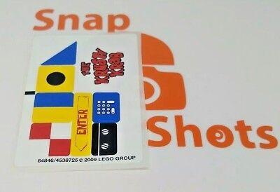 Lego SpongeBob 3833 Krusty Krab Adventures Sticker Sheet NEW