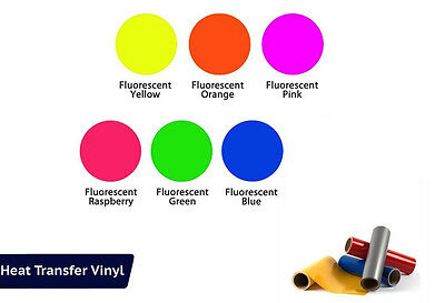Heat Transfer Vinyl Fluorescent-6 Piece Starter Bundle 15x 12 Rolls Cricut