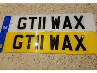 Valeting Number Plate