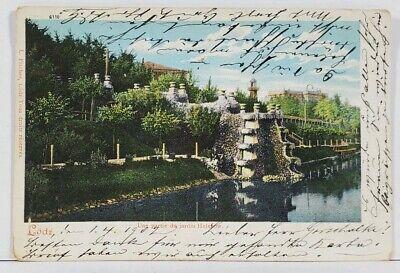 LODZ Poland Une partie du jardin Helenow, Russia 1902 to Berlin Postcard L2