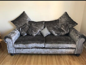 Crush velvet sofas 3 and 2 seater